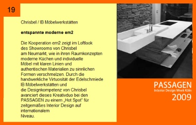 PASSAGEN Interior Design Week 2009
